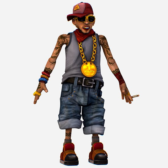 Rapper Bitter the Coolest Man - Renat - 3DOcean Item for Sale