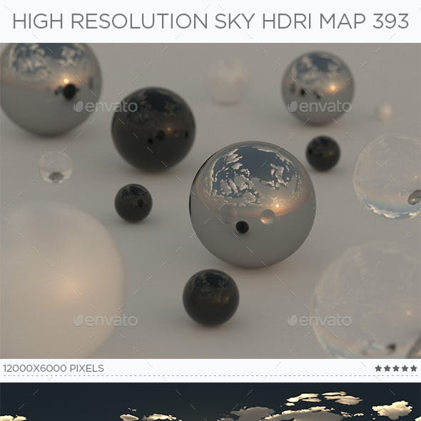 High Resolution Sky HDRi Map 393
