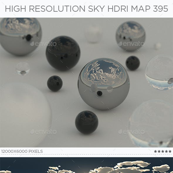 High Resolution Sky HDRi Map 395
