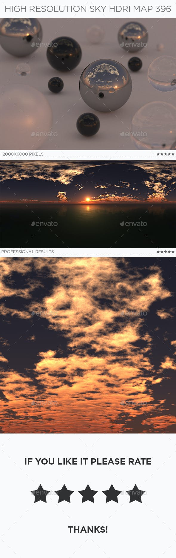 High Resolution Sky HDRi Map 396 - 3DOcean Item for Sale