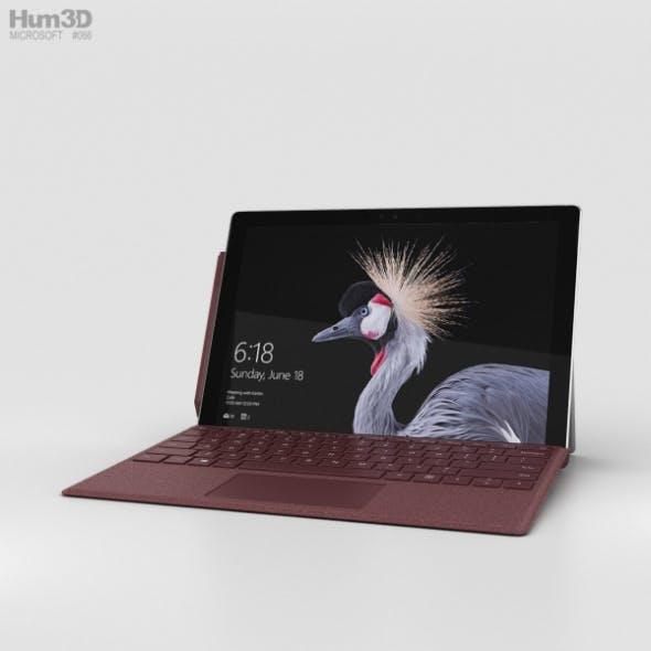 Microsoft Surface Pro (2017) Burgundy - 3DOcean Item for Sale