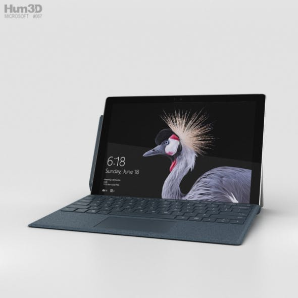 Microsoft Surface Pro (2017) Cobalt Blue - 3DOcean Item for Sale