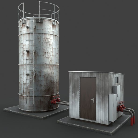 Rusted water tank