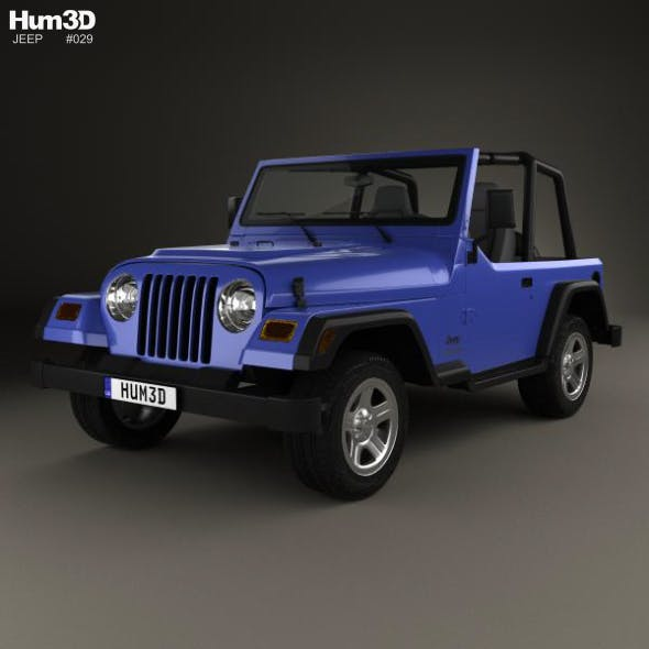 Jeep Wrangler TJ 1997 - 3DOcean Item for Sale