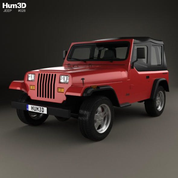 Jeep Wrangler YJ 1987 - 3DOcean Item for Sale