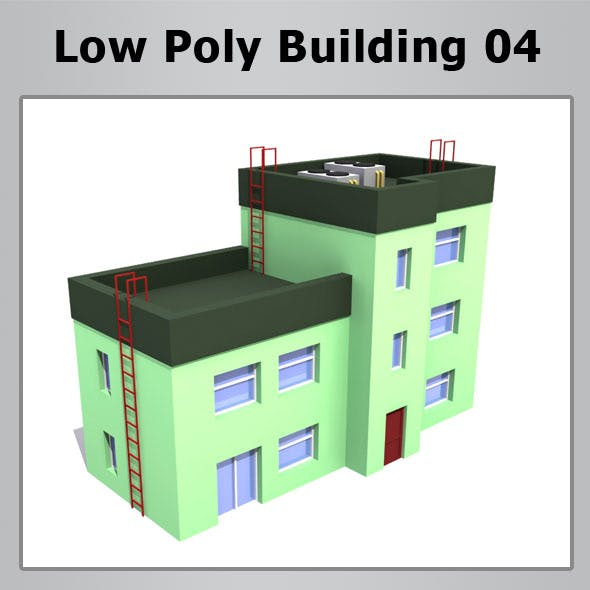 Low Poly Building 04