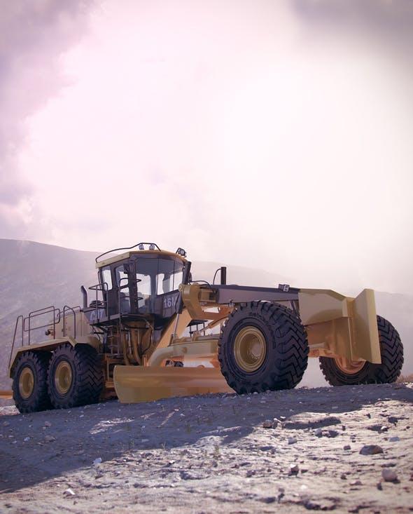 Motor Mining Grader Caterpillar 16M - 3DOcean Item for Sale