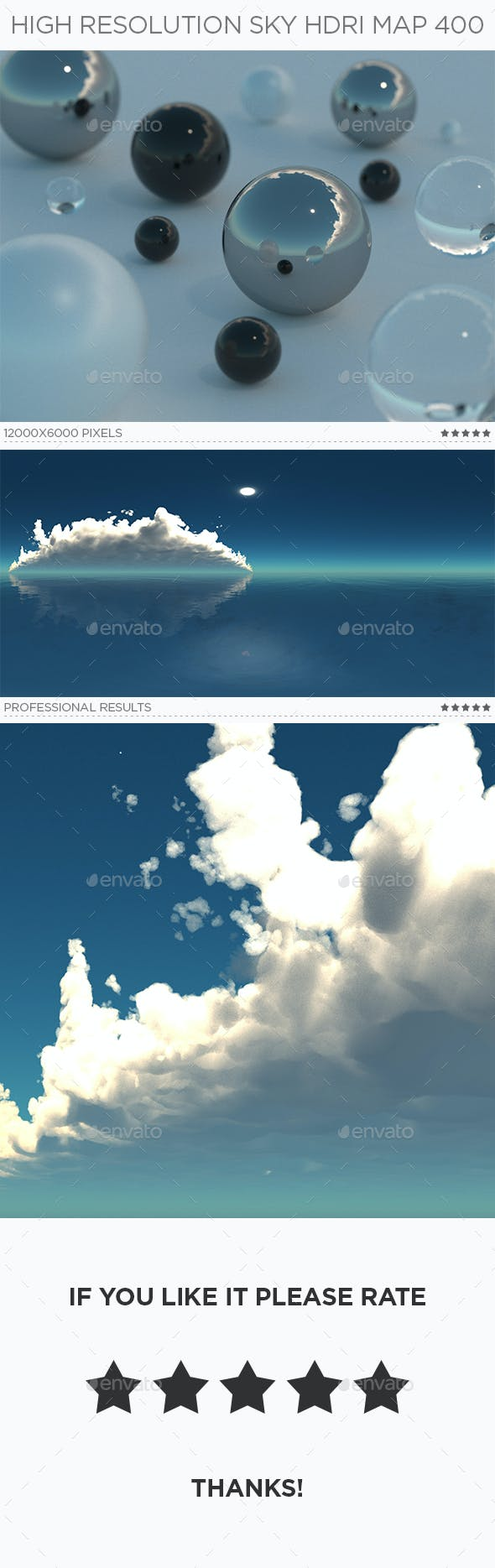 High Resolution Sky HDRi Map 400 - 3DOcean Item for Sale