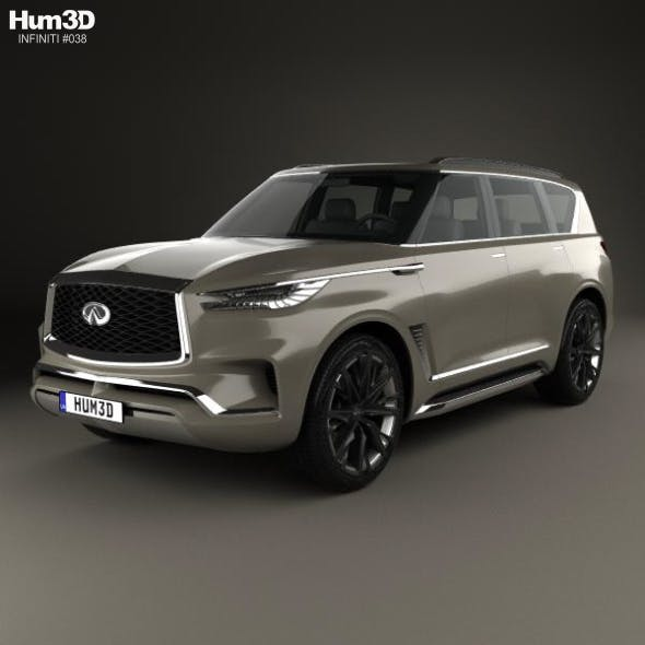 Infiniti QX80 Monograph 2017 - 3DOcean Item for Sale