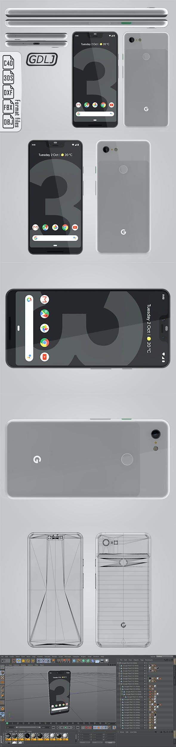 Google Pixel 3 XL White - 3DOcean Item for Sale