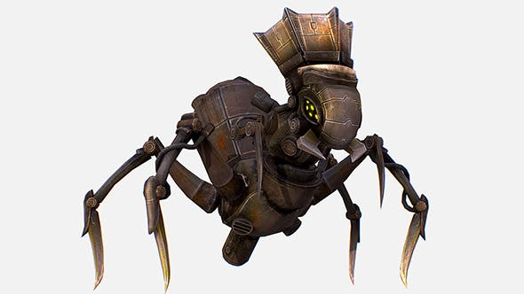 Game Character Arthropod Metal Crab Insect Robot - 3DOcean Item for Sale