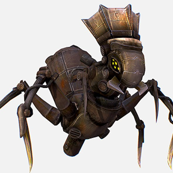 Game Character Arthropod Metal Crab Insect Robot