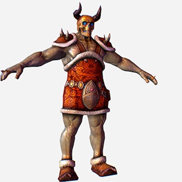 Game MMO RPG Character Skull Monster Santa