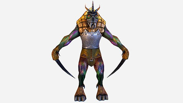 Game MMO RPG Character Insect Mutant 3d model - 3DOcean Item for Sale