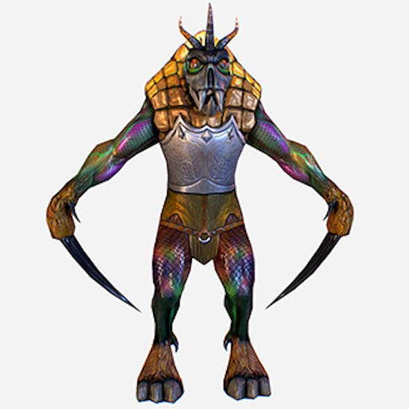 Game MMO RPG Character Insect Mutant 3d model