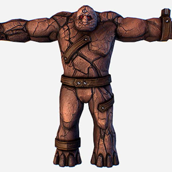 Game MMO RPG Character Skull Monster Clay Golem