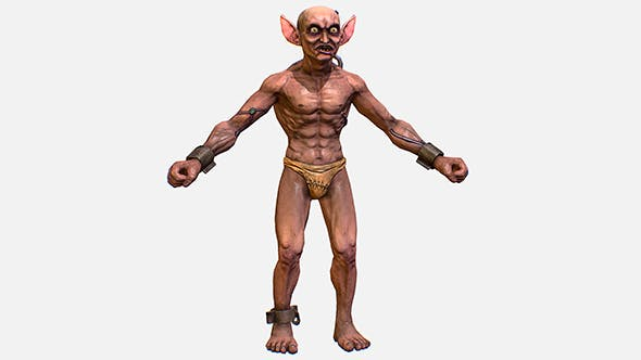 Game Character Gorllum Alien Troll Mutant - 3DOcean Item for Sale