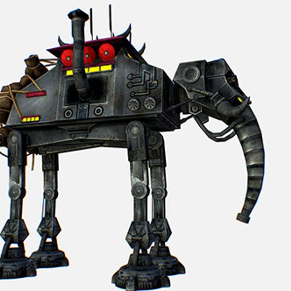Metal Elephant Robot Transport Star Wars