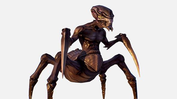 Game Character Arthropod Alien Hornbeam Bug - 3DOcean Item for Sale