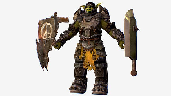 Game Character Armored Military Troll Orc - 3DOcean Item for Sale