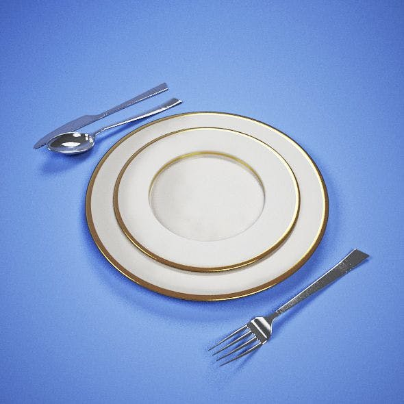 Modern Cutlery and CERAMIC PLATE