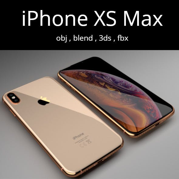iPhone XS Max Blender 3D - 3DOcean Item for Sale