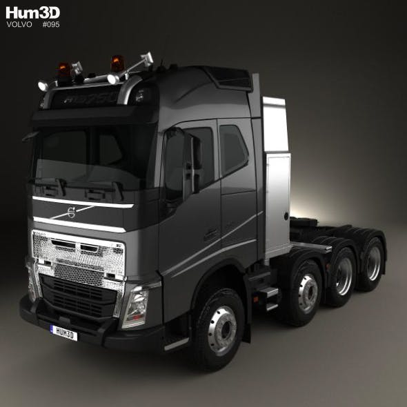 Volvo FH 750 Globetrotter Cab Tractor Truck 4-axle 2014 - 3DOcean Item for Sale