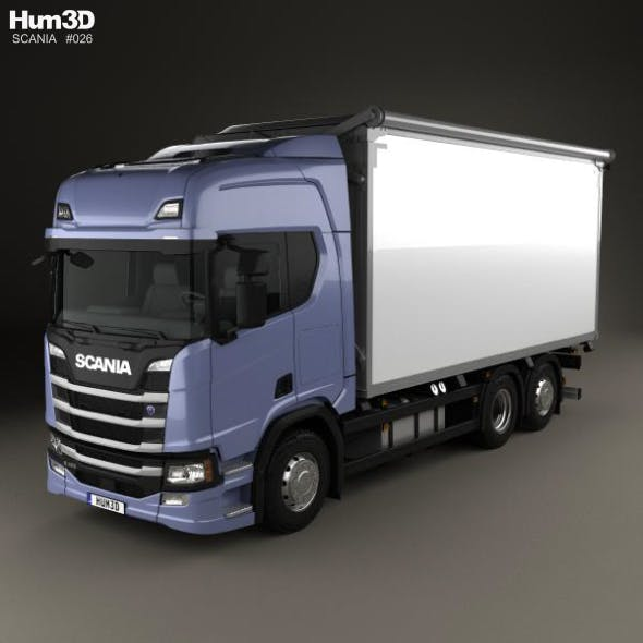 Scania R500 Highline Box Truck 2016 - 3DOcean Item for Sale