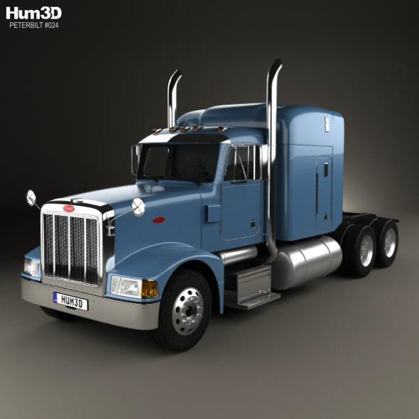 Peterbilt 377 Sleeper Cab Tractor Truck 1999 - 3DOcean Item for Sale