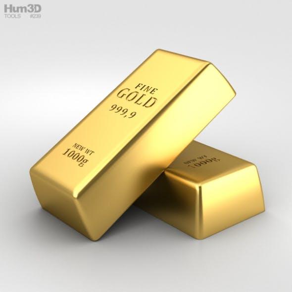 Gold Bar - 3DOcean Item for Sale