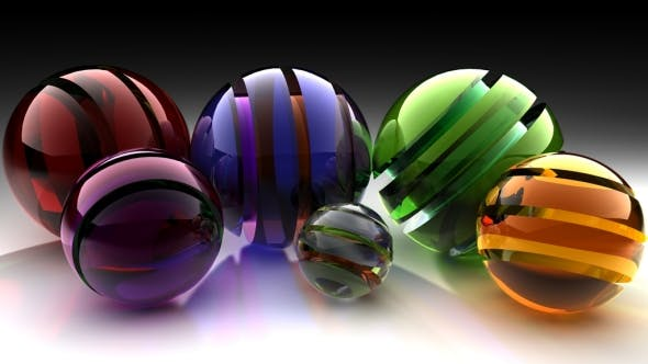 Galss Spheres effect - 3DOcean Item for Sale