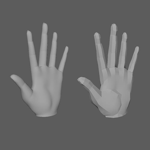 Female hand and hand base mesh
