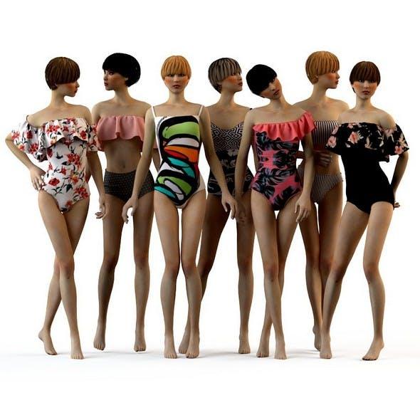 Girls in swimwear fashion summer 2018 - 3DOcean Item for Sale