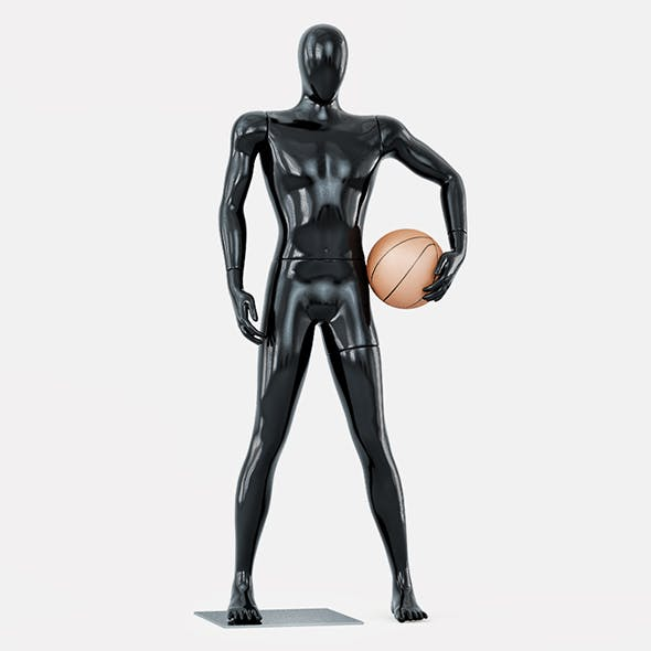 Faceless mannequin basketball 27