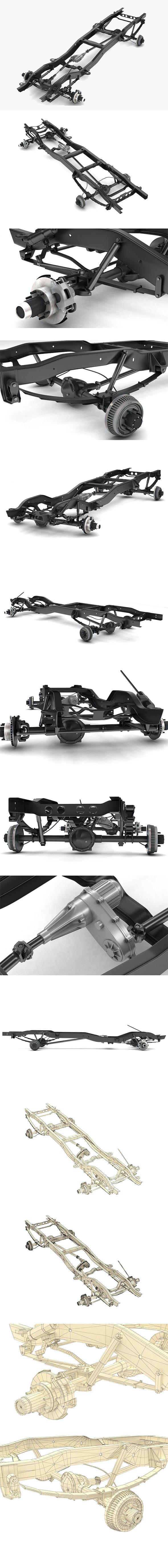 PICKUP TRUCK CHASSIS 4WD - 3DOcean Item for Sale
