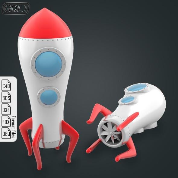 Space Rocket - 3DOcean Item for Sale