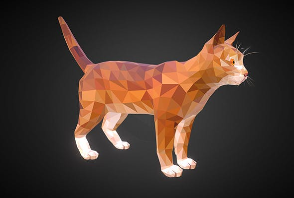 cat 01 color  Orange - 3DOcean Item for Sale