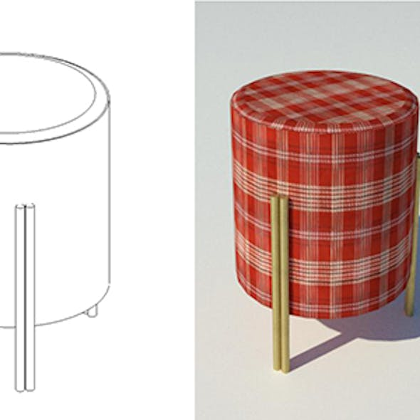 Stool with Customizable Materials