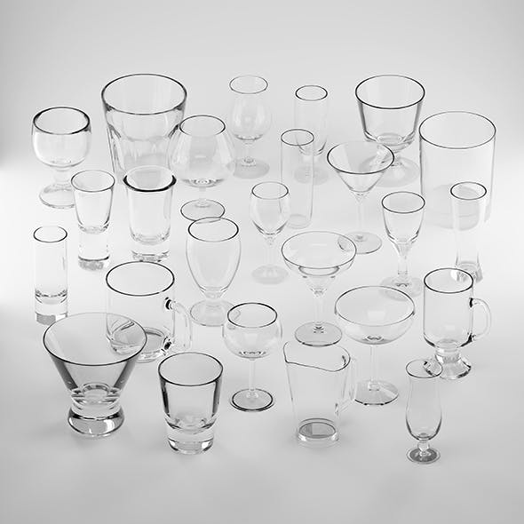 25 drink glasses set