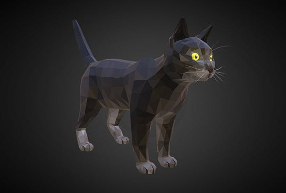 cat 01 color black - 3DOcean Item for Sale