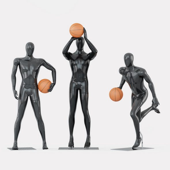Three faceless mannequins basketball 29 - 3DOcean Item for Sale