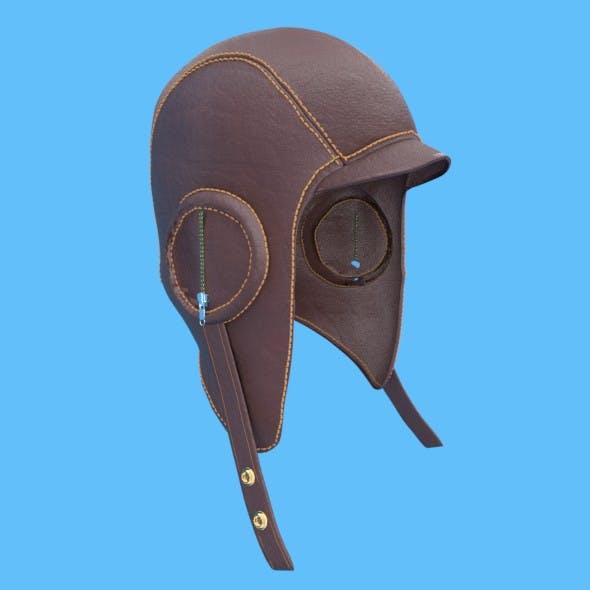 Leather Aviation Helmet