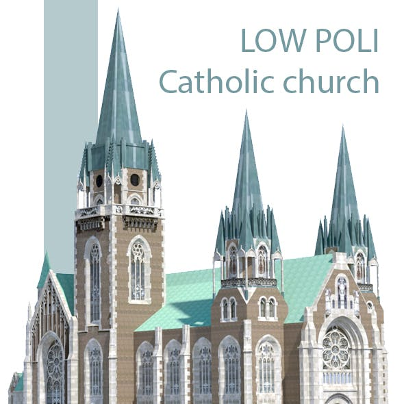 Low Poli Catholic church