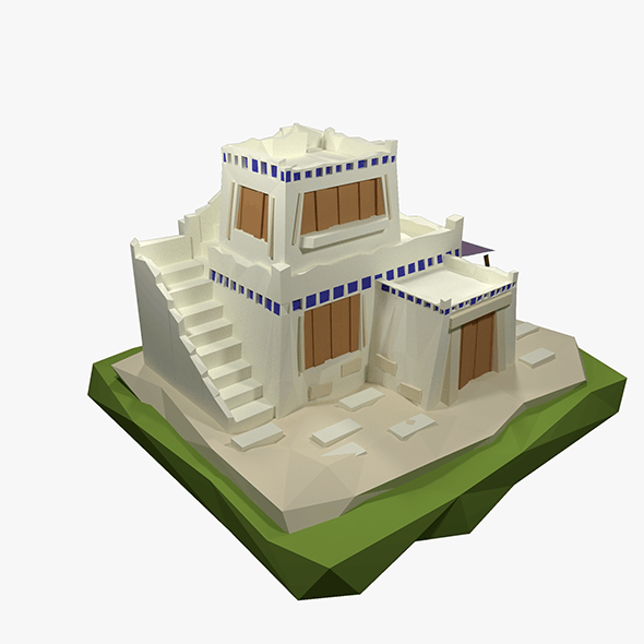 Low Poly Ancient Greece House - 3DOcean Item for Sale