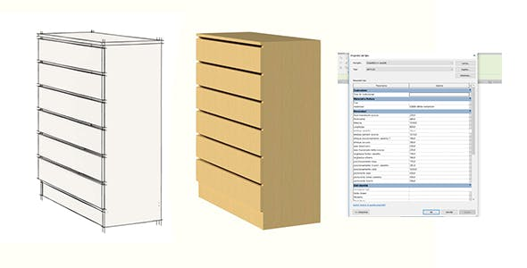 chest of drawers for revit 2019 - 3DOcean Item for Sale