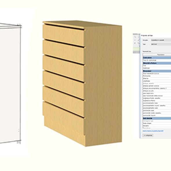 chest of drawers for revit 2019