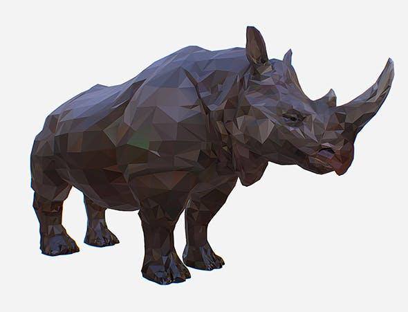 Lowpolygon Art African Animal Rhino - 3DOcean Item for Sale