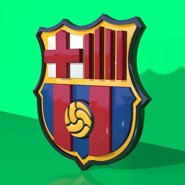 FC Barcelona 3D Logo - 3DOcean Item for Sale