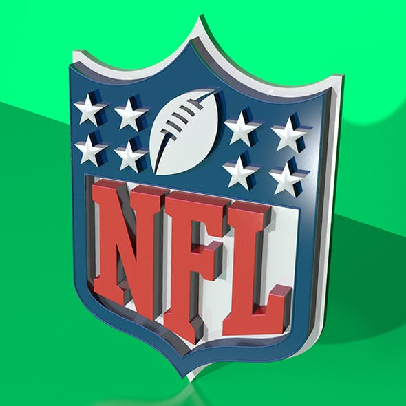 NFL 3D Logo - 3DOcean Item for Sale