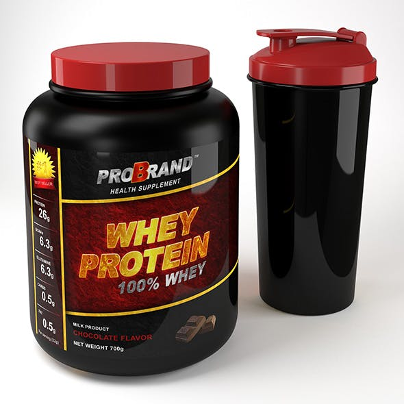 Protein Bottle and Shaker - 3DOcean Item for Sale